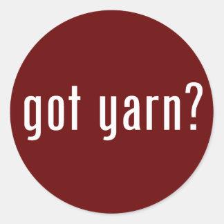 got yarn? classic round sticker