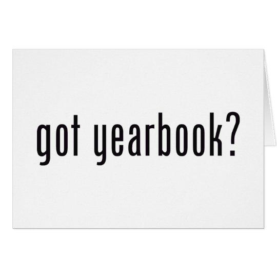 got yearbook? card
