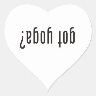 got yoga? (upside down) heart sticker