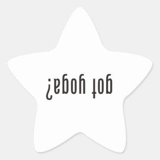 got yoga? (upside down) star sticker