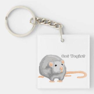 """Got Yogis?"" Rat Keychain"