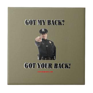 Got_Your_Back Azulejo Cuadrado Pequeño
