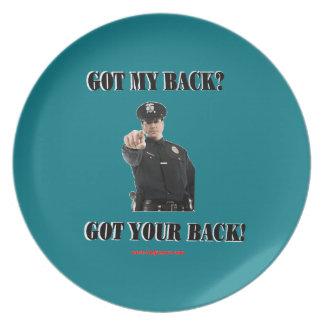 Got_Your_Back Melamine Plate