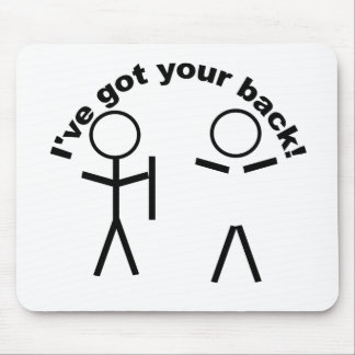 Got your back! mouse pad