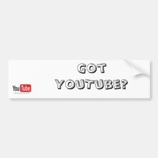 Got YouTube bumper stickers! Bumper Sticker