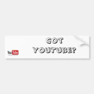 Got YouTube bumper stickers! Bumper Sticker