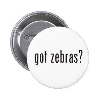 got zebras? pinback button