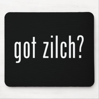 got zilch? mouse pad