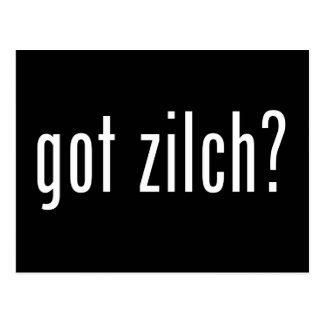 got zilch? postcard