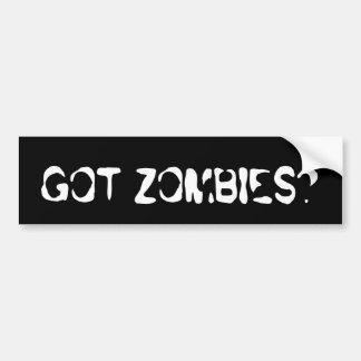Got Zombies Bumper Sticker