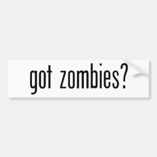got zombies? bumper sticker