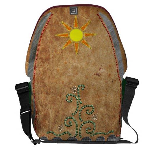 """gota """"antiqued"""" del sol bolsas de mensajeria"""