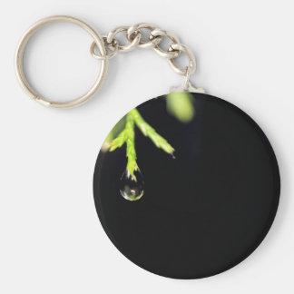 Gota de agua llavero redondo tipo pin