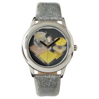 Gota de limón Martini - reloj del salón de cóctel