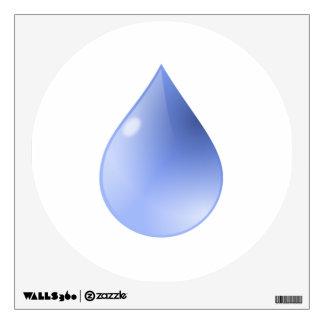 Gota de lluvia azul