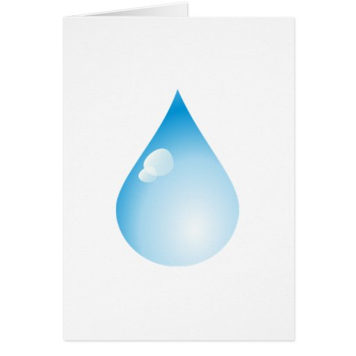 Gota de lluvia azul tarjeton