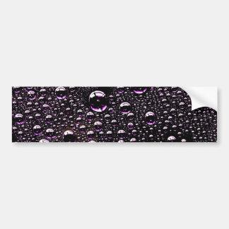 Gota de lluvia etiqueta de parachoque