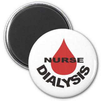 Gota de sangre de la enfermera de la diálisis enci imán redondo 5 cm