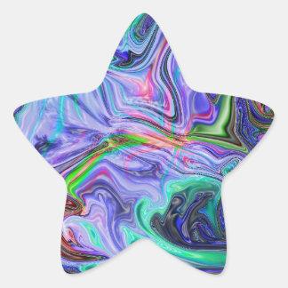 Gota en negro pegatina en forma de estrella
