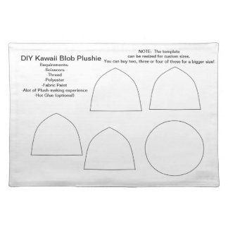 Gota Plushie - personalizable de DIY Kawaii Manteles Individuales