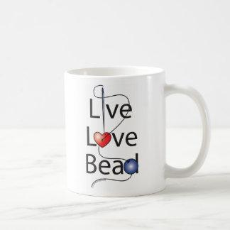 Gota viva del amor taza básica blanca