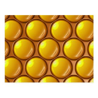 Gotas amarillas tarjetas postales