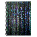 Gotas, azul y verde cuaderno