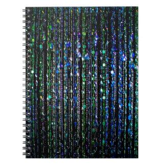 Gotas azul y verde cuaderno