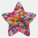 Gotas coloridas del niño pegatinas forma de estrella