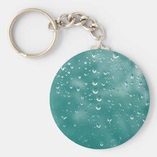 Gotas de agua abstractas llavero redondo tipo pin