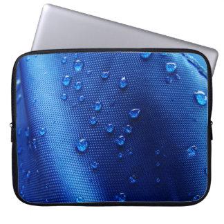Gotas de agua azules fundas computadoras