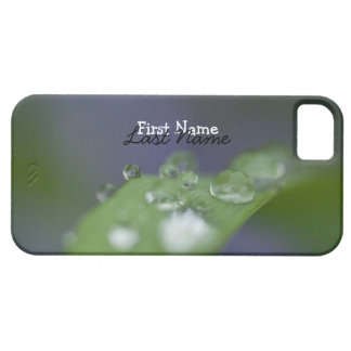 Gotas de agua del jardín; Personalizable iPhone 5 Funda