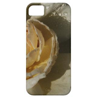 Gotas de agua en el rosa blanco poner crema de iPhone 5 funda