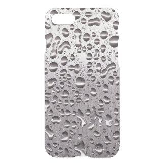 Gotas de agua frescas en modelo del acero funda para iPhone 7