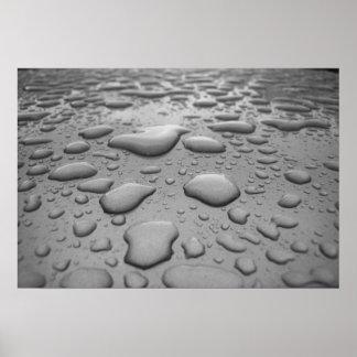 Gotas de agua impresiones