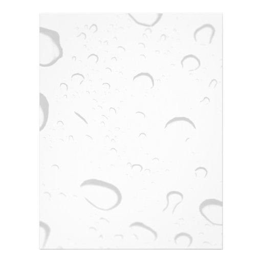 "Gotas de agua sobre el vidrio folleto 8.5"" x 11"""