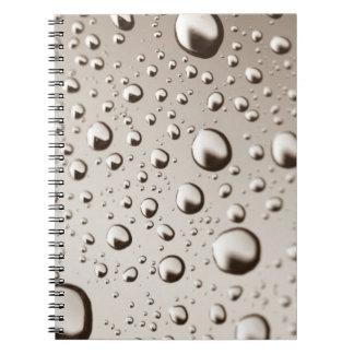 Gotas de agua spiral notebooks