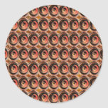 Gotas de cobre de la energía: Arte grabado en Pegatina Redonda
