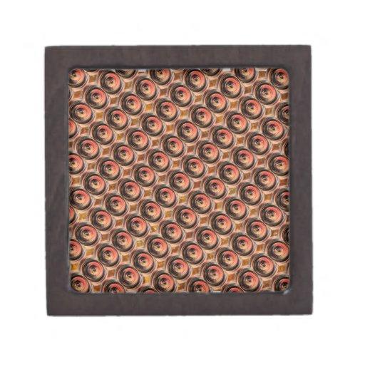 Gotas de cobre de la energía: Arte grabado en reli Caja De Joyas De Calidad