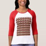 Gotas de cobre de la energía: Arte grabado en reli Camisetas