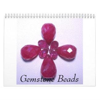 Gotas de la piedra preciosa calendarios
