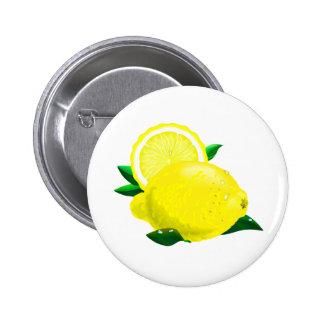 Gotas de limón pin redondo de 2 pulgadas