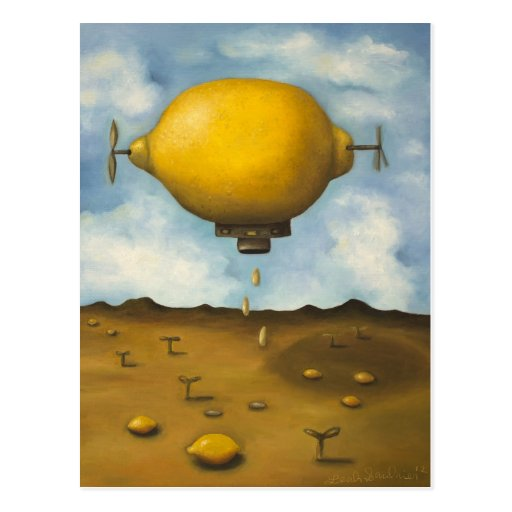 Gotas de limón tarjeta postal