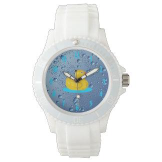 Gotas de lluvia Ducky afortunadas Relojes De Pulsera