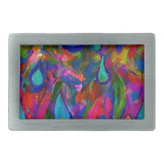 Gotas de lluvia hebilla cinturón rectangular