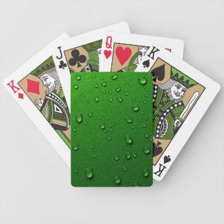 Gotas de lluvia metálicas verdes de la sinergia baraja de cartas