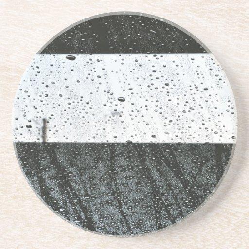 Gotas de lluvia posavaso para bebida