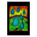 Gotas de lluvia poster