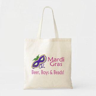 Gotas de los muchachos de la cerveza del carnaval bolsa tela barata