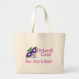 Gotas de los muchachos de la cerveza del carnaval bolsa tela grande